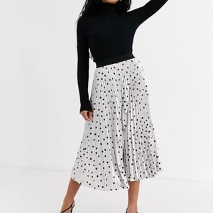 Outrageous Fortune Pleated Midi Skirt Sz 2